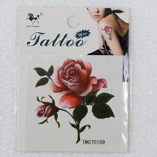 Greenery bloom Rose Temporary Tattoo Stickers Body Art Flash Waterproof Painting