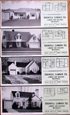 Colusa/Butte City/Grimes, CA 1947 Advertising Blotters - SET OF FOUR w/Home Plan