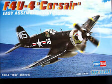F4U-4 CORSAIR - EASY ASSEMBLY AUTHENTIC KIT,  HOBBY BOSS, SCALE 1/72