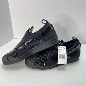 Adidas Women's Originals Superstar Slip-On Shoes Core Black Size 8.5 BD8055