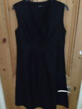 Jaeger, Black,Linen, Lined dress, Size 14, Sleeveless, Immaculate