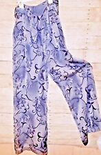 Vintage CASHE Womans WIDE LEG Lounging PURPLE Flowy BOHO Lined Sexy Pant size 8
