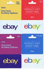 Lot of 4x Ebay Generic gift Card ** NO BALANCE **