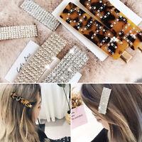 Fashion Girls Crystal Hair Clip Snap Barrette Hairpin Bobby Hair Accessories  BD