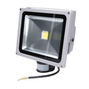 30W Projecteur LED spot extérieur sécurité blanc froid 6000K avec détecteur