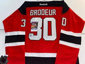 Martin Brodeur Signed Devils Reebok Authentic Jersey Autographed JSA COA HOF