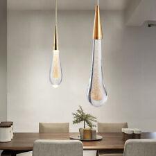 Modern Chandelier Crystal Glass LED Ceiling Light Fixture Pendant Lamp 38cm Gold