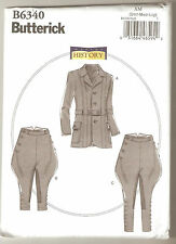 Butterick Pattern B6340 Men's Victorian Georgian Jacket Breeches Jodhpurs Sz S-L