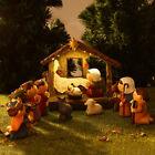 Set of 11 Miniature Kids Nativity Scene Set with Baby Creche Christmas Decor US