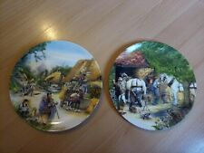 Two Royal Doulton Collectors Plates The Thatcher The Blacksmith