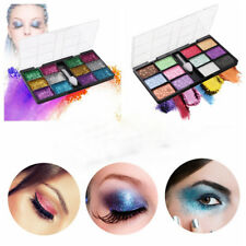 Hot 12 Colors Sparkle Glitter Makeup Highlight Powder Eye Cosmetics Palette Tool