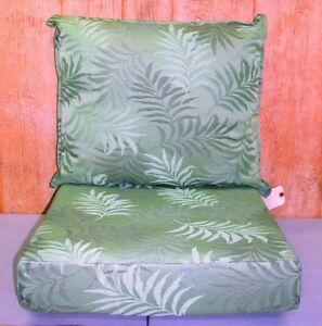 2 Pc Outdoor Deep Seat Chair Set ~ Cara Mia Floral ~ 25x23x6 / 24x24x5 **NEW**