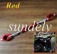"Red BIKE Motorcycle Handlebar Brace & Clamp bar Set 7""/8"" handle"