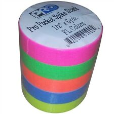 Pocket Pro Gaff Fluorescent Rainbow Gaffers Spike Tape 1/2 inch X 6  yards