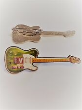 Telecaster Badge Enamel Pin Badge As Played by Status Quo's Francis Rossi
