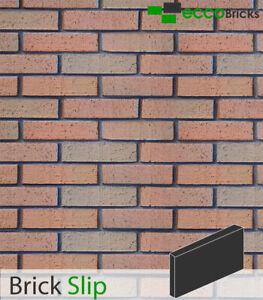 Brick Slip Cladding Decoration Brick Tiles Real Clay - Natural Russet Mixture