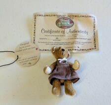 Janet Ganz Cottage Collectibles miniature 3in girl teddy bear with TAG / COA