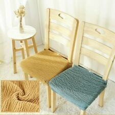 Pleated Stretch Dining Chair Covers Seat Slipcover Crinkle Frill Japanese Modern