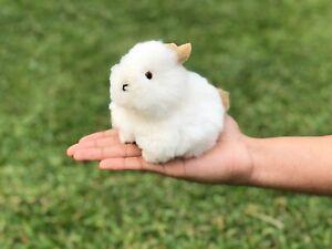 Handmade Alpaca Fur Bunny, Stuffed Animal Bunny Rabbit, Peruvian Gift Ideas