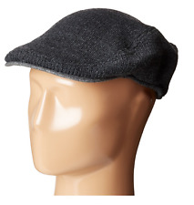 $96 TOMMY HILFIGER MEN'S GRAY KNITTED CASUAL ACRYLIC WINTER SHORT BRIM HAT CAPS