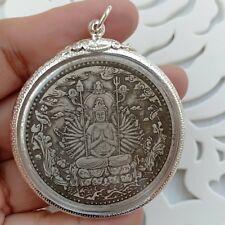 Yin Thai Buddha Amulet pendant Old Wat Thousand-Hand Guanyin Phra God Success