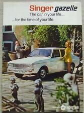 SINGER GAZELLE Car Sales Brochure 1969 #7621/H