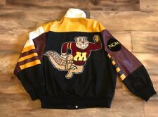 Minnesota Gophers Vintage Jeff Hamilton Jh Design Ncaa Cotton Leather Jacket Xxl