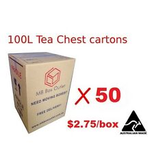 50 Cardboard Packing Boxes Removal Moving Storage Heavy Duty Tea Chest Carton