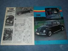 "1966 VW Bug Vintage Resto-Rod Article ""1300 What?!"" Volkswagen"