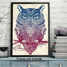 Full Drill 5D Diamond Painting Art Owl Cross Stitch Kit Embroidery Home Decor Us