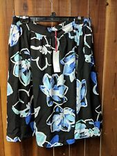 Women's Size Large New With Tags Black & Blue Floral Pull On Skirt by Elle