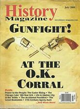History Magazine Gunfight At The O.K. Corral Easter Rising Chicago Cubs Quebec