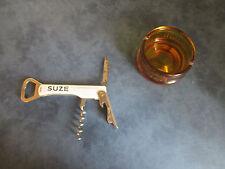 Rare beau cendrier SUZE et couteau publicitaire SUZE apéritif, Lame Pradel  TBE