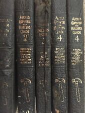 Audels Carpenters And Builders Guides Book Set Volumes 1-4 Printed In 1945