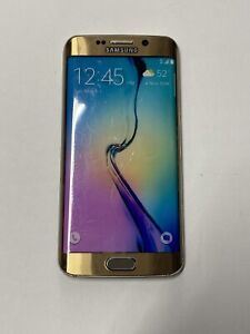 Non-Functioning Gold Samsung Galaxy S6 Edge Smartphone toy mock dummy phone