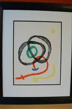 Joan Miro  Original Farblithographie  Komposition aus fünf Farben  1963