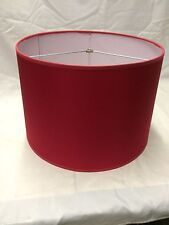 "Contemporary Style Fabric Drum Lamp shade 16"" wide Red color"