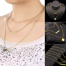 Wholesale Women Pendant Gold Chain Choker Chunky Statement Bib Necklace Jewelry