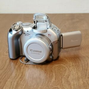 CANON POWERSHOT S1 IS 3.2MP DIGITAL CAMERA Silver 10x Zoom W/2 GB Compact Flash