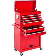 Werkzeugwagen mit Aufsatz Werkstattwagen Werkzeug Rollwagen Werkzeugkiste rot