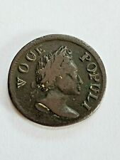 1760 Voce Populi Half Penny New York U.S. Colonial Copper Coin Nice one