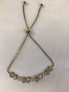 Topaz Gold Filled Infinity Bracelet Slide Knot Closure NWOT