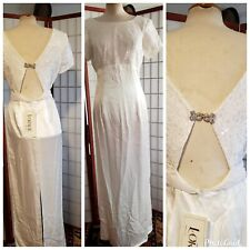 NWT Vintage Loralie Original Formal Wedding Prom Dress Lace Beads Size Small