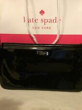 KATE SPADE Black  Patent Leather Chrissy Wristlet Handbags Wallet