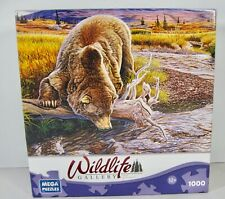 Wildlife Gallery GRIZZLY AND SALMON  Puzzle by Al Agnew 1000 pieces - Mega Brand