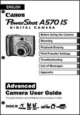 Canon Powershot A570 IS  Digital Camera User Guide Instruction  Manual