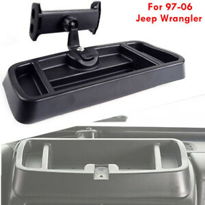 Tablets Phone Holder Dashboard Tray Container Organizer for Jeep Wrangler 97-06