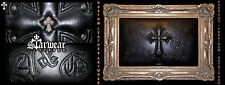 Amal Guessous / Chrome Hearts Leather .925 Silver Cross Tooled Gold Gilded Frame