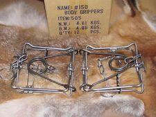 2 Bridger 150 Magnum Body Grippers Traps 505  Muskrat  Mink Fisher new sale