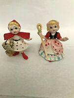 Vintage Hi Style by Bridge Nursery Rhyme figures Red Riding Hood Bo Peep